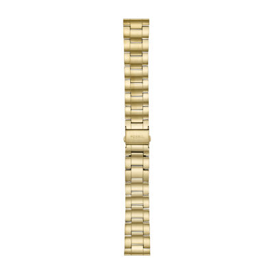 Fossil Smartwatches 22mm Mens Gold Tone Stainless Steel Watch Band S221439 by Fossil Smartwatches
