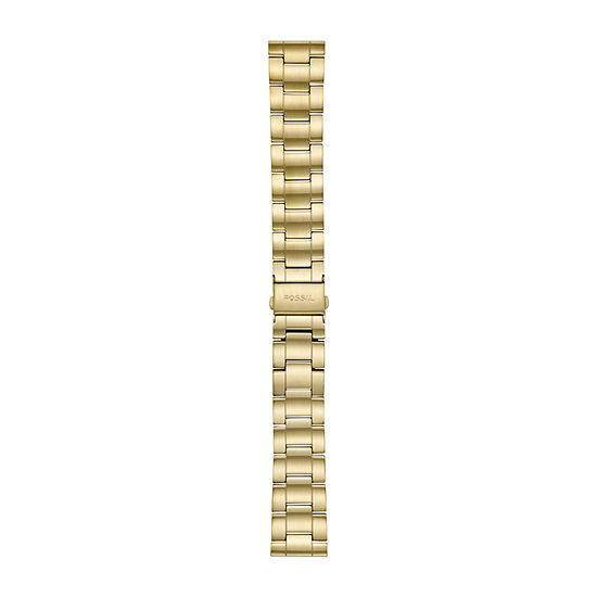 Fossil Smartwatches 22mm Mens Gold Tone Stainless Steel Watch Band-S221439