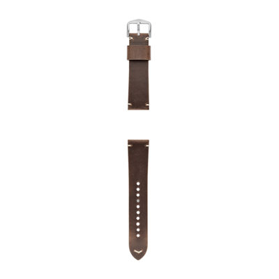 Fossil Q 22mm Brown Leather Watch Strap Mens Brown Watch Band-S221365