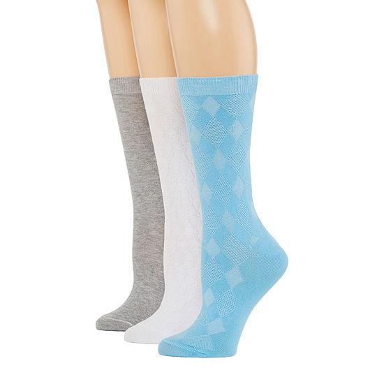 Mixit 3 Pair Crew Socks Womens