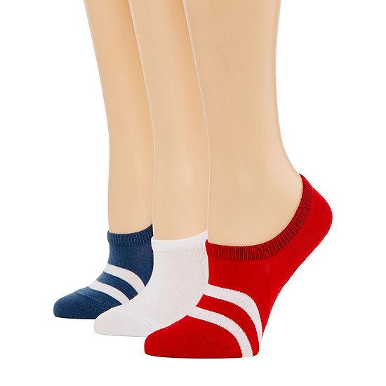 Xersion Tie Dye Sneaker 3 Pair Knit Liner Socks - Womens