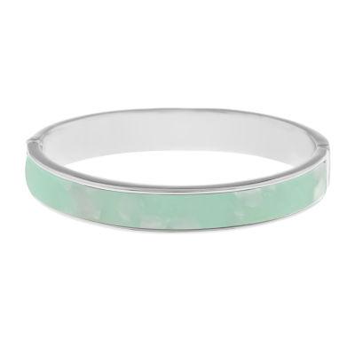 Liz Claiborne Silver Tone Round Bangle Bracelet