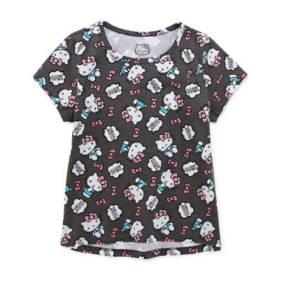 Hello Kitty Girls Crew Neck Short Sleeve Hello Kitty Graphic T-Shirt Preschool / Big Kid
