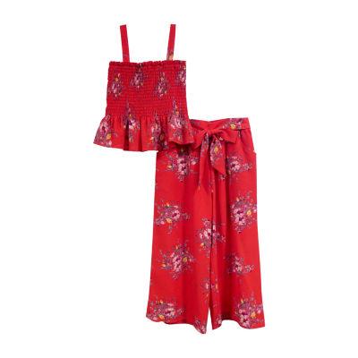 Lilt 2-pc. Floral Pant Set Preschool / Big Kid Girls