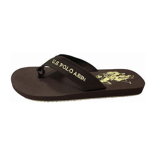 U.S. Polo Assn.® Woven Strap Logo Sandals