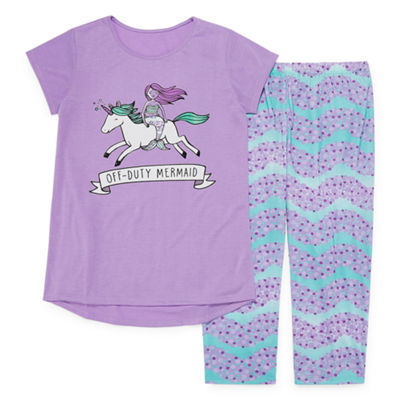 Arizona 2pc. Mermaid Pajama Set - Girls Plus
