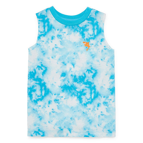 Okie Dokie Toddler Boys Crew Neck Sleeveless Muscle T-Shirt