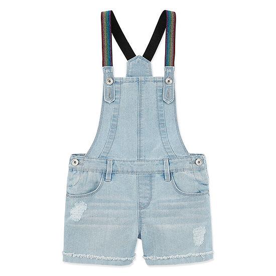 Blue Spice Shortalls - Preschool Girls