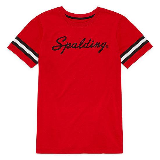 Spalding Boys Crew Neck Short Sleeve Graphic T-Shirt - Big Kid