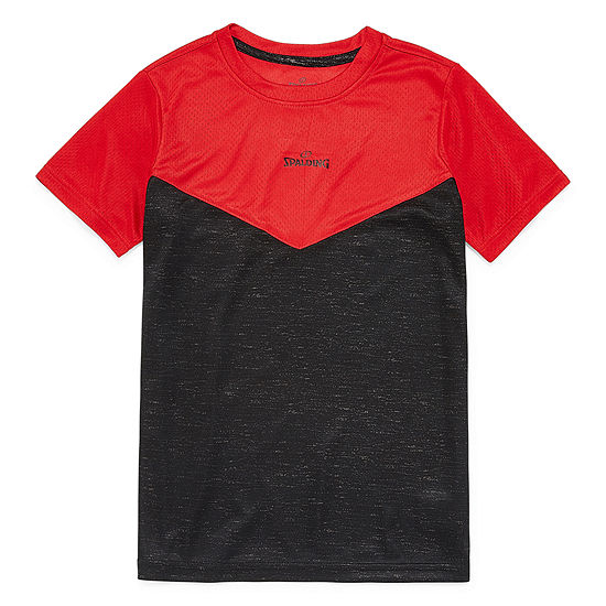 Spalding Boys Crew Neck Short Sleeve T-Shirt-Big Kid