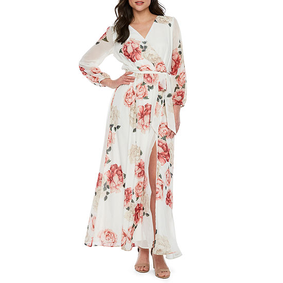 d8cdf15fee Premier Amour Long Sleeve Floral Maxi Dress - JCPenney