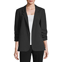 Deals on Worthington Shirred Sleeve Boyfriend Blazer
