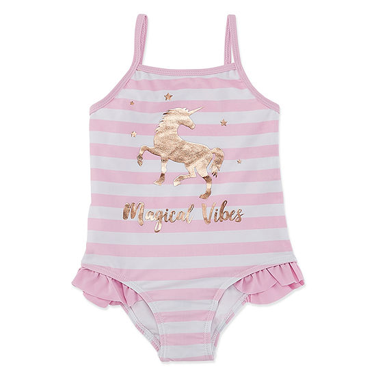 Free Style One Piece Swimsuit Toddler Girls