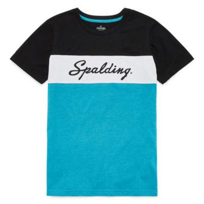 Spalding Boys Crew Neck Short Sleeve Graphic T-Shirt