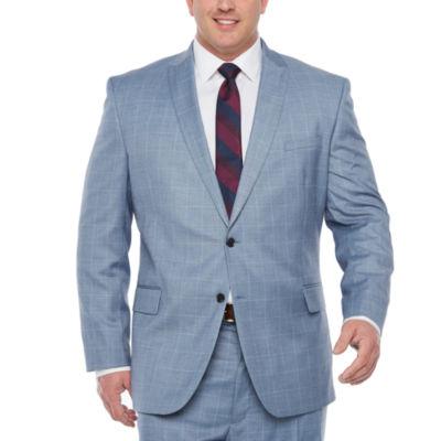 JF J.Ferrar Windowpane Stretch Suit Jacket-Big and Tall