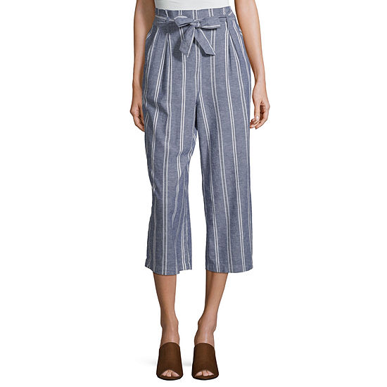 Arizona Womens Low Rise Wide Leg Pull On Pants Juniors