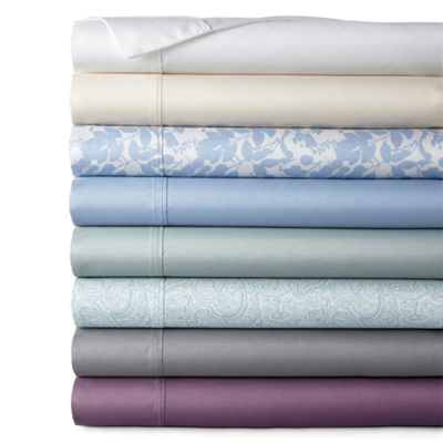Home Expressions 290tc Easy Care Percale Solid and Print Wrinkle Resistant Sheet Sets and Pillowcases