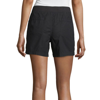 a.n.a Womens Mid Rise Pull-On Short-Petite