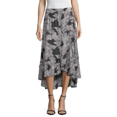 Worthington Womens Midi Wrap Skirt