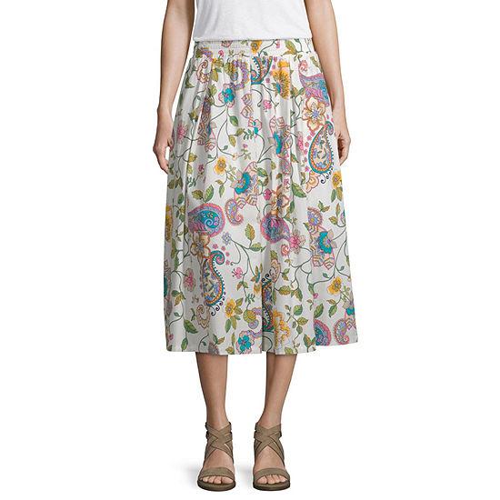 a.n.a Womens Midi Pleated Skirt
