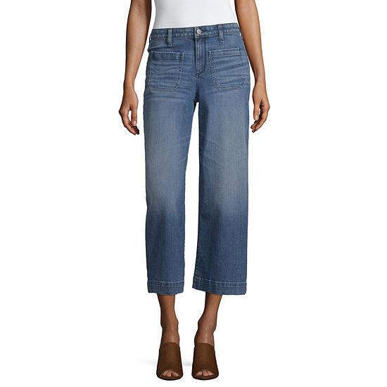 a.n.a Womens Wide Leg Cropped Jean