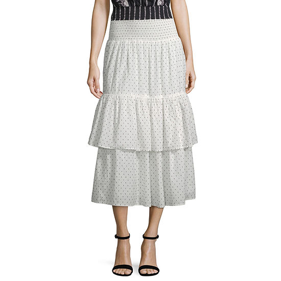 73d679e41326 a.n.a Womens Midi Flared Skirt - JCPenney