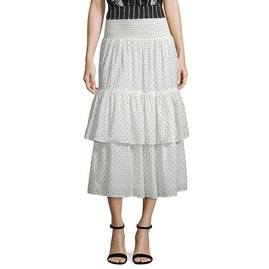 a.n.a Womens Midi Flared Skirt