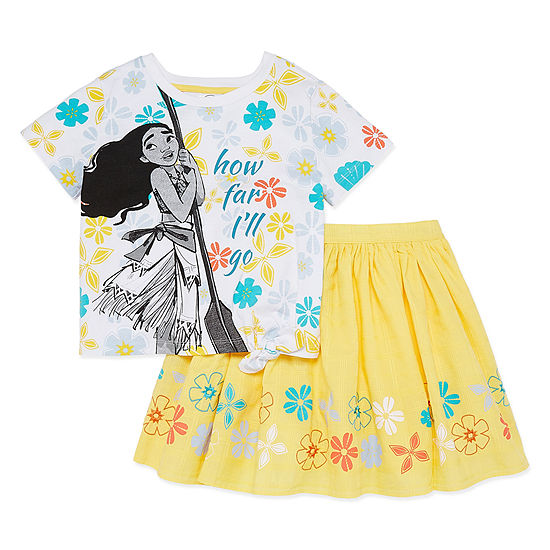 Disney 2 Pc Moana Skirt Set