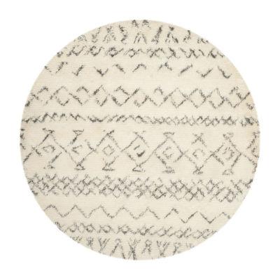 Safavieh Casablanca Collection Evren Geometric Round Area Rug