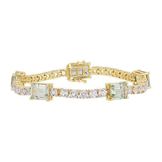 18K Gold Over Silver Solid Link Bracelet