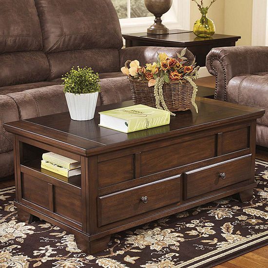Signature Design by Ashley Gately 2-Drawer Lift-Top Coffee Table