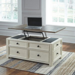 Signature Design by Ashley Roanoke 4-Drawer Lift-Top Coffee Table