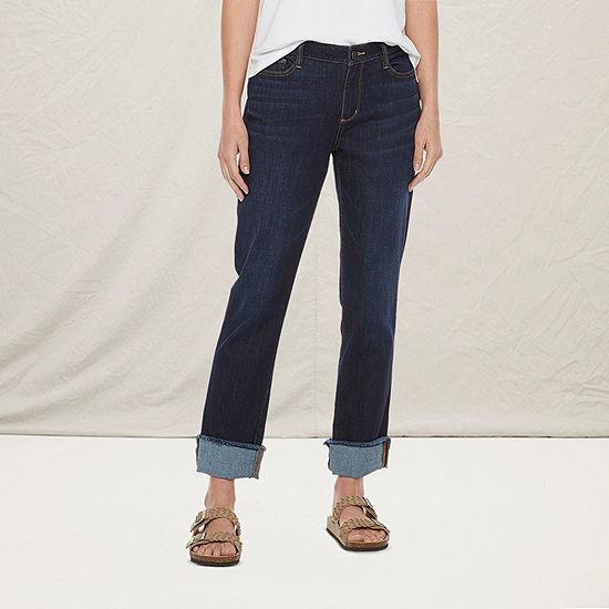 a.n.a Womens Wide Cuff Straight Jean