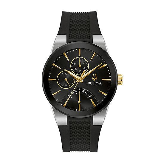 Bulova Futuro Mens Black Strap Watch-98c138