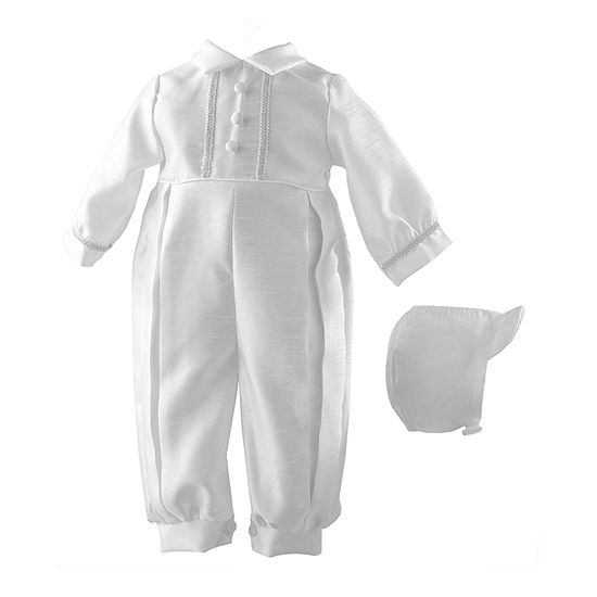 Keepsake Christening Baby Boys 2-pc. Overall Set