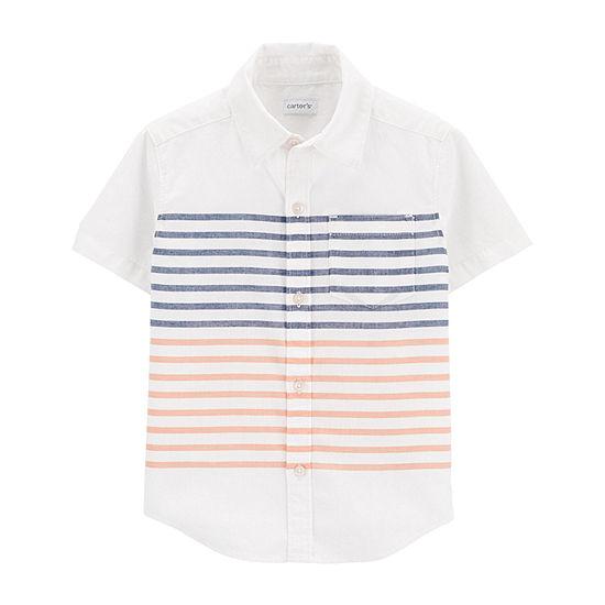 Carter's Baby Boys Short Sleeve Button-Front Shirt