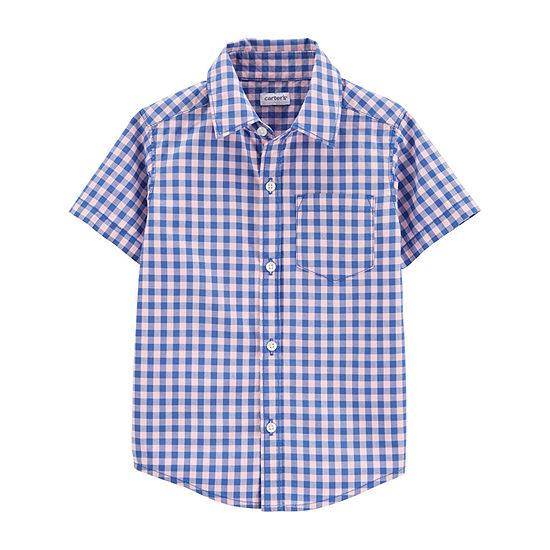 Carter's Baby Boys Short Sleeve Button-Down Shirt
