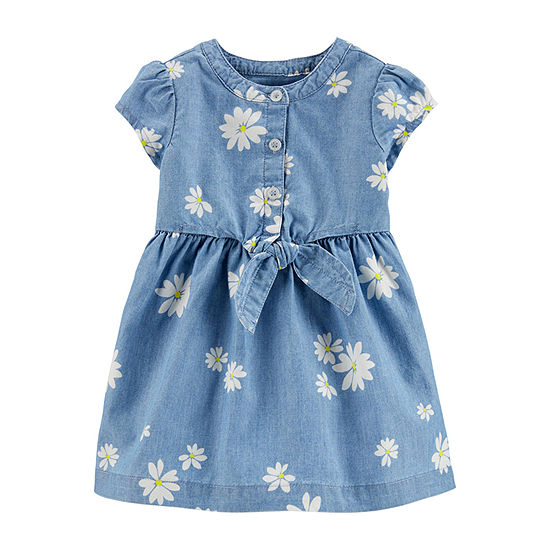 Carter's - Baby Girls Short Sleeve Fit & Flare Dress