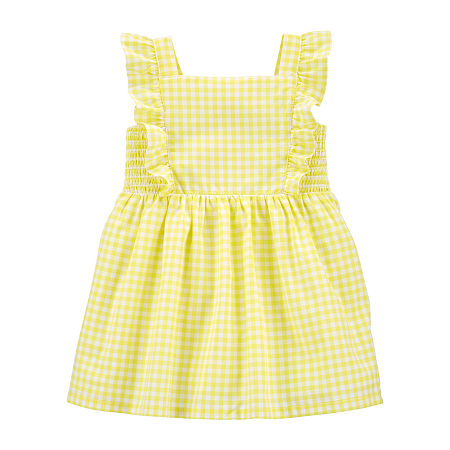 1940s Children's Clothing: Girls, Boys, Baby, Toddler Carters Baby Girls Sleeveless A-Line Dress 3 Months  Yellow $6.79 AT vintagedancer.com
