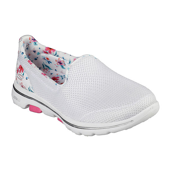 Skechers Go Walk 5 - Flowery Womens Walking Shoes