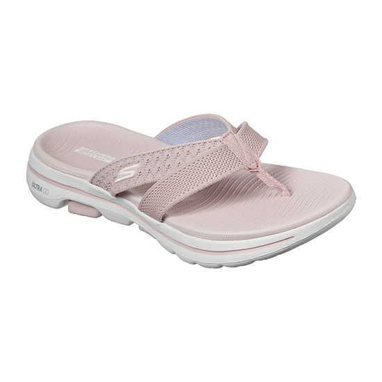 Skechers Go Walk 5 - Sun Kiss Womens Footbed Sandals