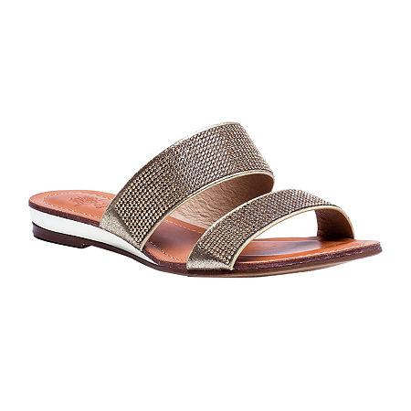 GC Shoes Womens Manarola Flat Sandals, 7 1/2 Medium, Yellow