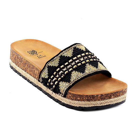 GC Shoes Ayla Womens Footbed Sandals