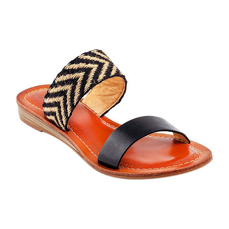 GC Shoes Womens Nannie Wedge Sandals, 8 1/2 Medium, Black