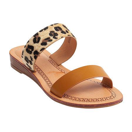 GC Shoes Womens Nannie Wedge Sandals, 6 1/2 Medium, Brown