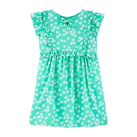 Carter's - Toddler Girls Sleeveless Flutter Sleeve A-Line Dress