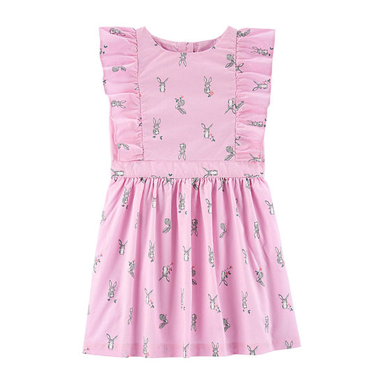 Carter's Toddler Girls Sleeveless Flutter Sleeve A-Line Dress
