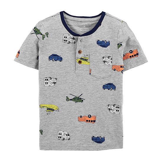 Carter's - Toddler Boys Short Sleeve Henley Shirt