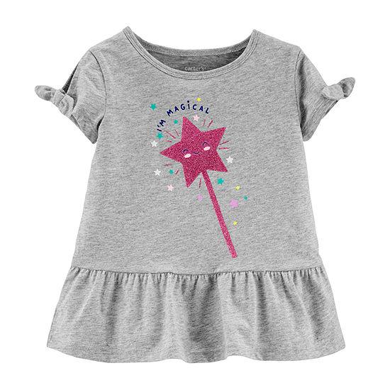 Carter's Toddler Girls Round Neck Short Sleeve Graphic T-Shirt