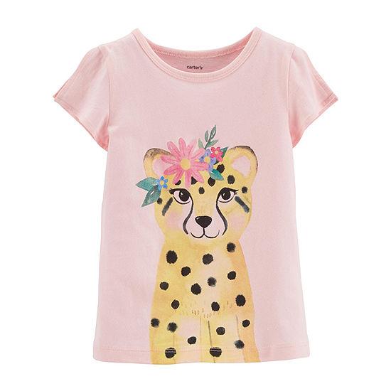 Carter's-Toddler Girls Round Neck Short Sleeve Graphic T-Shirt